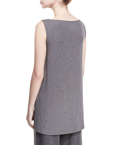 Bateau-Neck Lightweight Jersey Tank Top