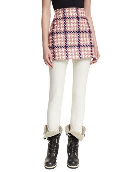 Gonna Houndstooth A-Line Mini Skirt