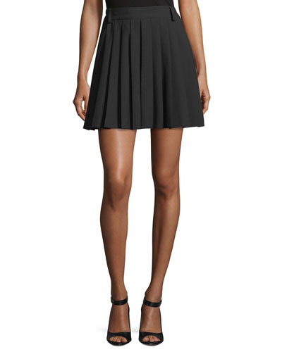 Pleated Cady Tech Skort