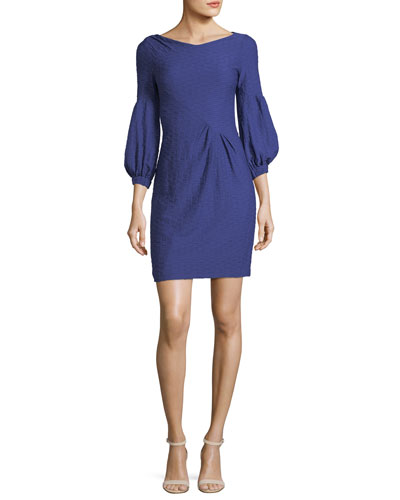 Elizabeth Blouson-Sleeve Sheath Cocktail Dress