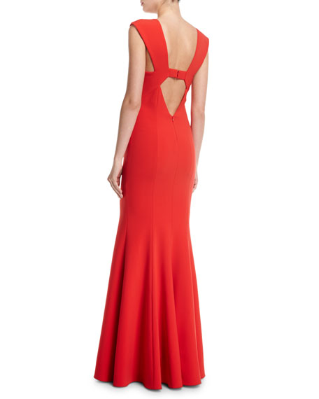 Victoria Sleeveless Deep V-Neck Mermaid Evening Gown