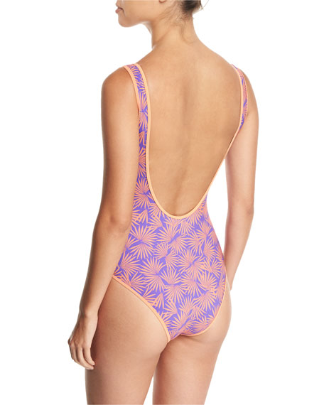 Classic Printed One-Piece Swimsuit