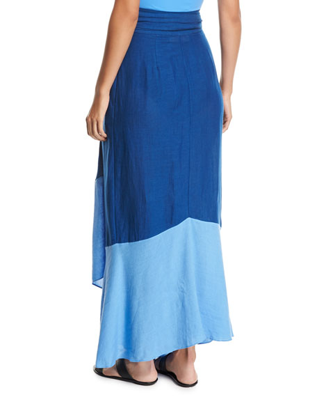 Draped Wrap Beach Skirt