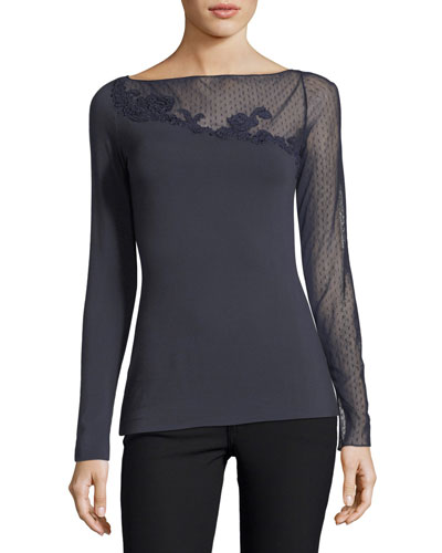 Haunting of Turner Mesh Top with Mesh Lace