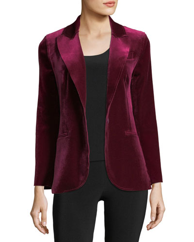 Velvet Tailored Blazer Jacket