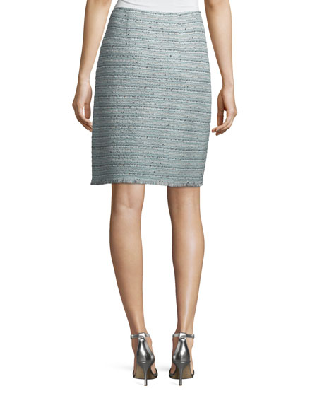 Riana Multi-Tweed Pencil Skirt