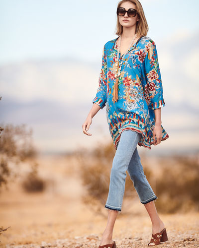 Mala Printed Georgette Blouse
