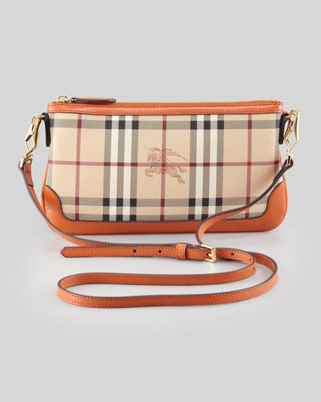 66e74187be Burberry Haymarket Check Crossbody Bag, Rust