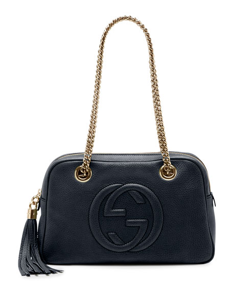 Gucci Soho Leather Double-Chain-Strap Shoulder Bag 369f730b4ae23