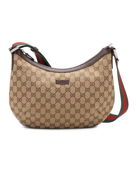 Gucci Original GG Dipped Canvas Messenger Bag with Signature Web Strap 02bae66c5ff2