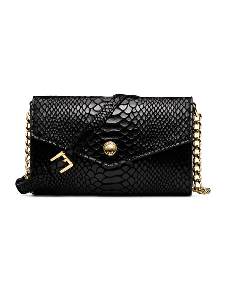 65e4f11ccadf40 MICHAEL Michael Kors Snake-Embossed iPhone Crossbody Case