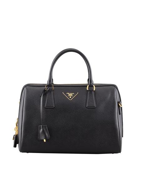 a58c7a3a83 Prada Saffiano Bowler Bag with Strap