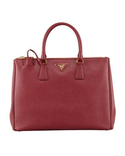 Saffiano Executive Tote Bag, Wine (Cerise)