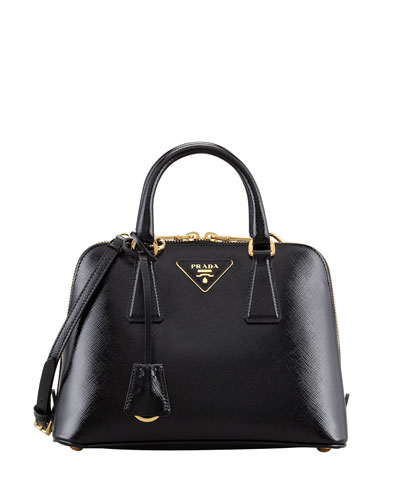 Small Saffiano Promenade Bag, Black (Nero)