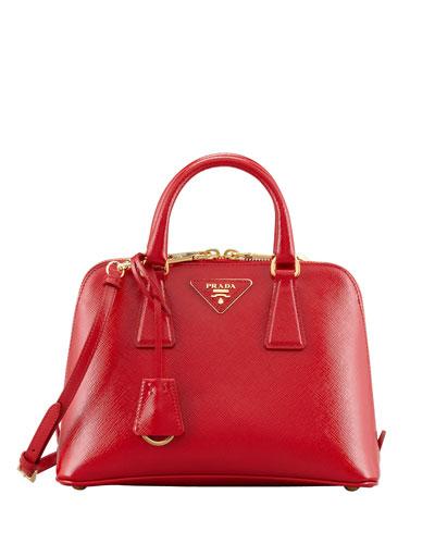 Small Saffiano Promenade Bag, Red (Rosso)