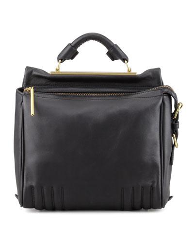 Ryder Small Leather Crossbody Bag, Black