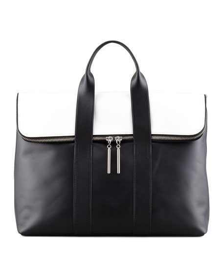 3.1 Phillip Lim 31 Hour Fold-over Tote Leather 4dmtRUW