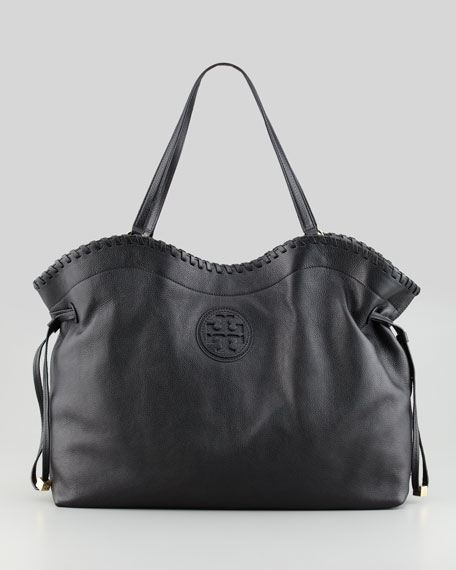 Marion East West Slouchy Tote Bag Black