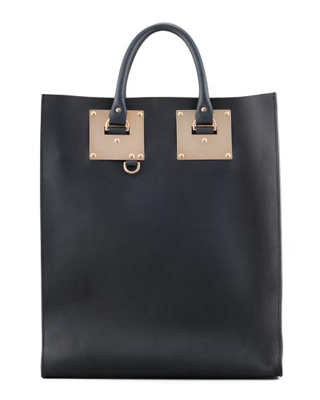 59b42ac540e0 Sophie Hulme Signature Leather Tote Bag, Black
