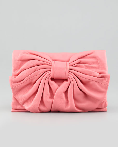 965e9882d0b4 RED Valentino Bow Clutch Bag with Flap