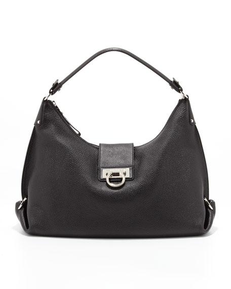 Fanisa Gancini Hobo Bag Black