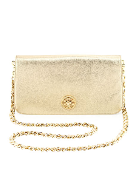 2b85a03765 Tory Burch Adalyn Metallic Clutch Bag, Gold
