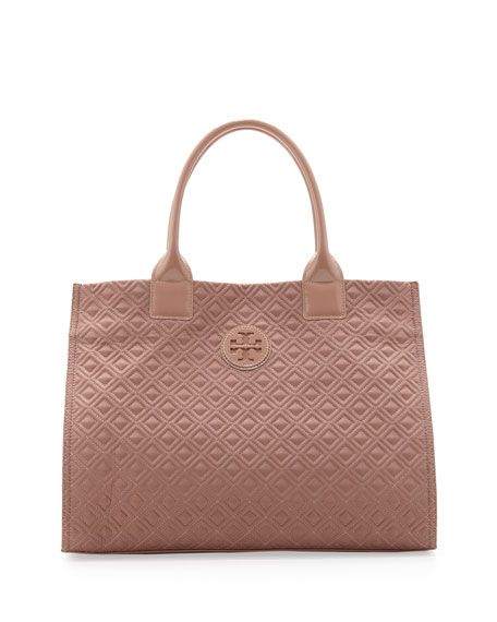 Ella Quilted Tote Blush