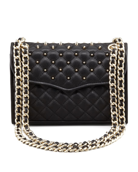 Quilted Affair Studded Mini Shoulder Bag Black