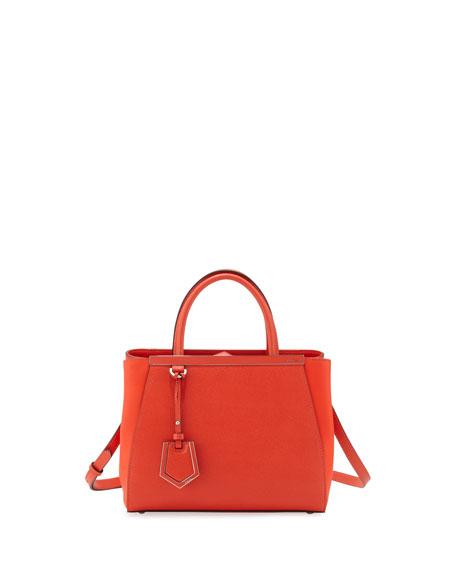 2jours Saffiano Mini Tote Bag Red Orange