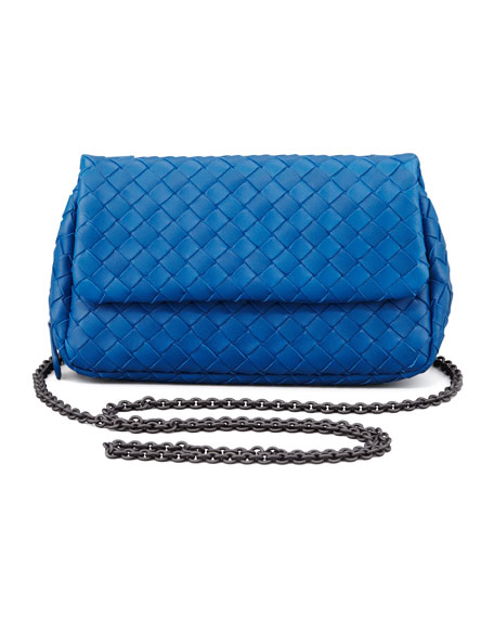 Woven Mini Crossbody Bag Blue