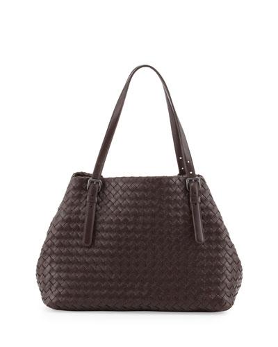 A-Shaped Tote Bag, Dark Brown