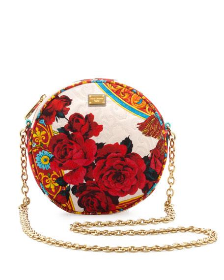 Dolce   Gabbana Glam Floral Round Crossbody Bag a74822adcd095