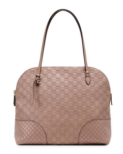 Bree Guccissima Leather Shoulder Bag, Tan/Nude