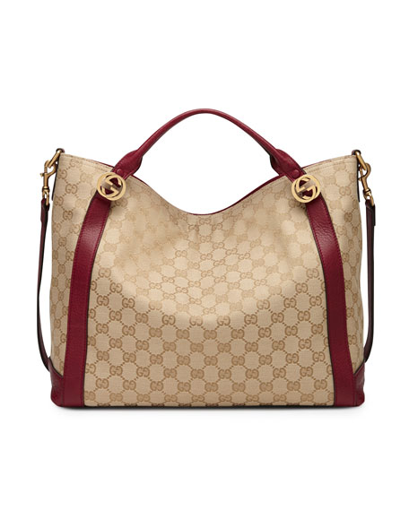 0152a7d83d91a Gucci Miss GG Original GG Canvas Top Handle Bag