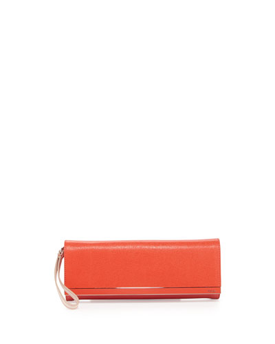 Rush Colorblock Clutch Bag, Red/Orange
