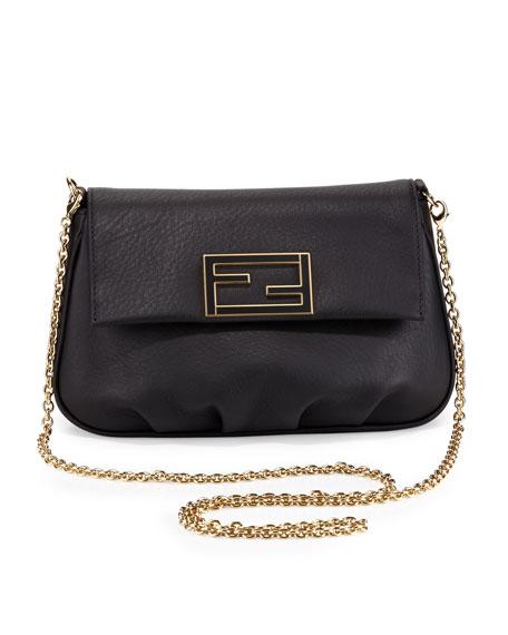 Fendista Pochette Crossbody Bag Black