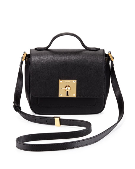 9fbbe3dc77d2 Fendi Mini Borsa Leather Crossbody Bag