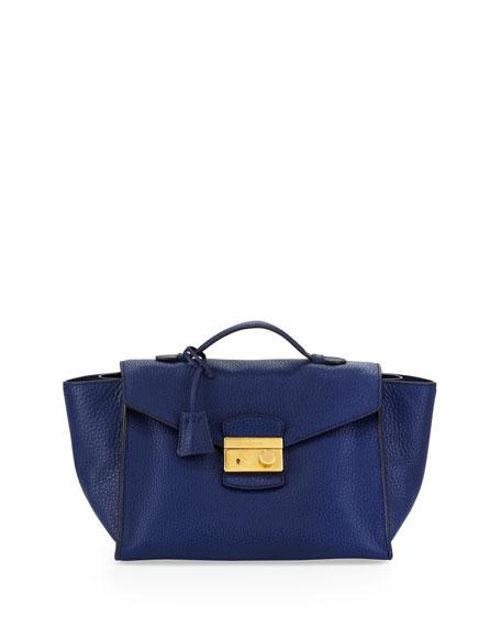 e375af37f651c9 Prada Daino Twin Pocket Satchel Bag, Blue (Inchiostro)