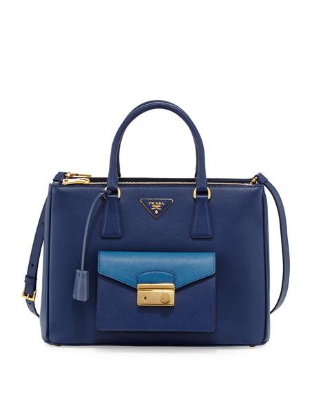 18a7f0a5c4 Prada Saffiano Galleria Tote with Pocket