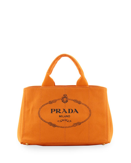 Canvas Logo Tote With Strap Orange Papaya