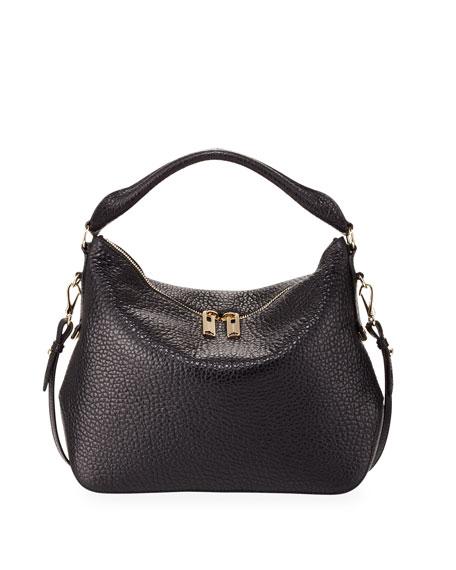 2e473da461f3 Burberry Pebbled Leather Hobo Bag