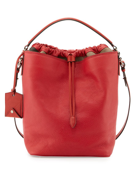 Burberry Brit Pebbled Check-Top Bucket Bag a764cde244bc5