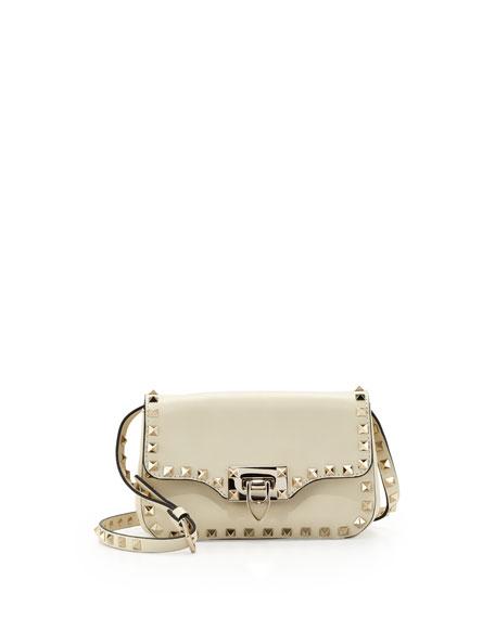 03a05a5783 Valentino Rockstud Mini Crossbody Bag, Ivory