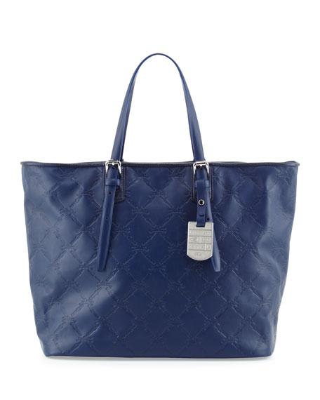 Longchamp LM Cuir Large Tote Bag, Navy b310d39dec
