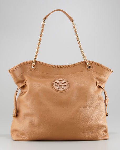 Marion Slouchy Leather Tote Bag Royal Tan