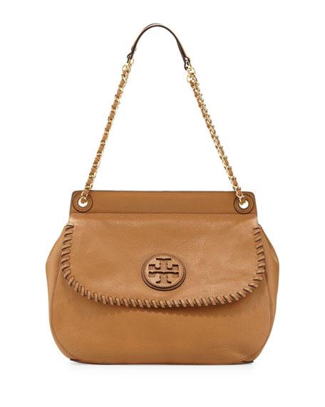 Marion Leather Saddle Bag Tan
