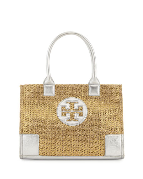 9034912afe7 Tory Burch Ella Mini Metallic Straw Tote Bag