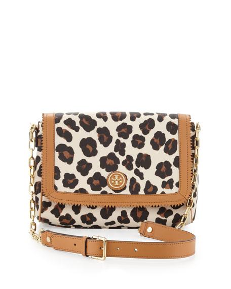 4448dc6040ae Tory Burch Kerrington Leopard-Print Crossbody Bag