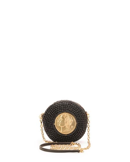 e0aa62eb4de8 Dolce   Gabbana Glam Round Coin Crossbody Bag