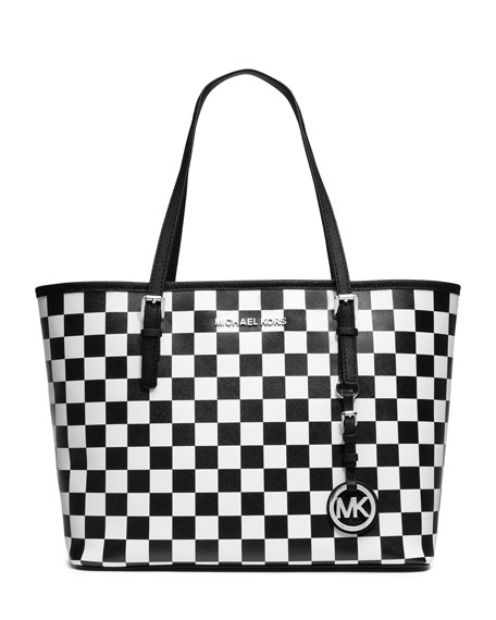 ceb5fa623e9f75 MICHAEL Michael Kors Jet Set Travel Checkerboard Tote